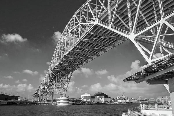 Photograph - Harbor Bridge #2 - Bw by Tony Baca