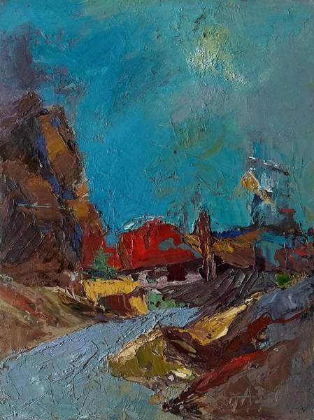 Painting - Harbor by Irena Jablonski