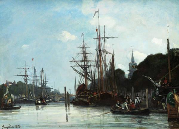 Wall Art - Painting - Harbor by Johan Jongkind