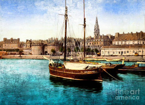 Photograph - Harbor St Malo France by Carlos Diaz