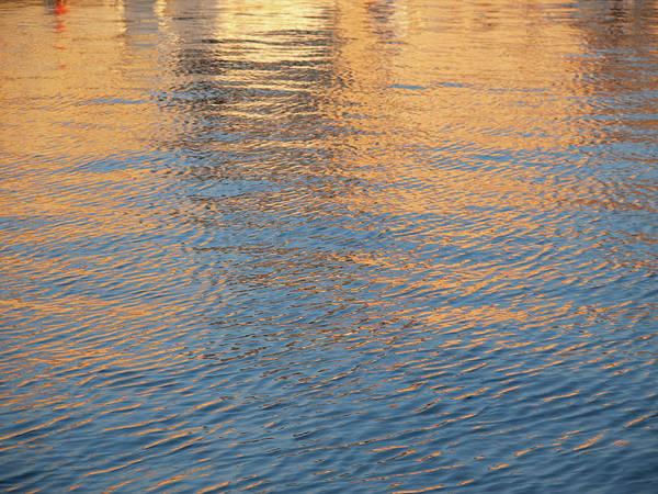 Wave Photograph - Harbor Sunset Background by Goranstimac