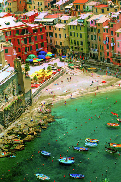 Awe Photograph - Harbour In Vernazza, Italy by David Smith