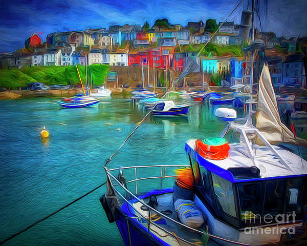 Digital Art - Harbour Life by Edmund Nagele