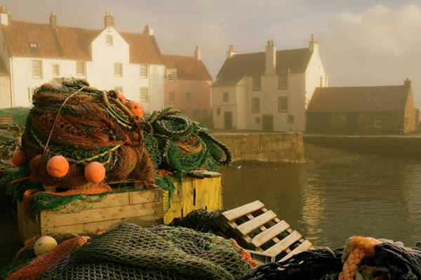 Quayside Photograph - Harbour On Sunny, Foggy And Icy Morning by Bethune Carmichael