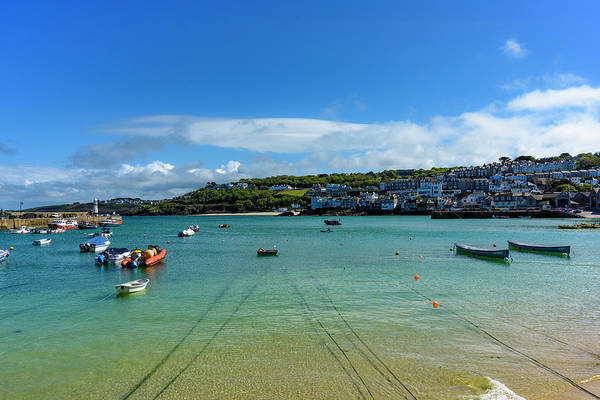 Photograph - Harbour To Porthminster St Ives Cornwall by Eddy Kinol