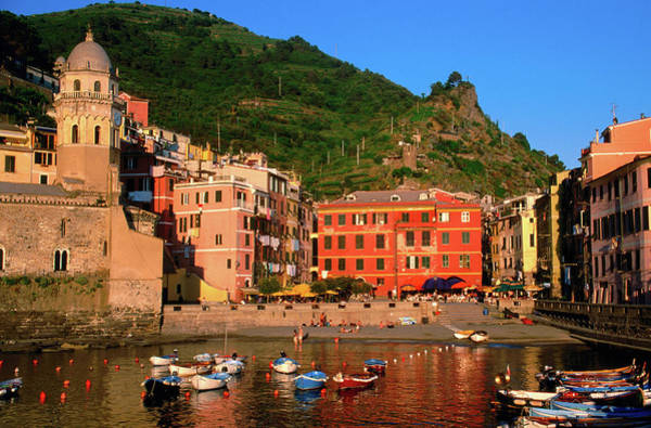 Vernazza Photograph - Harbour With Fishing Boats, Vernazza by John Elk Iii