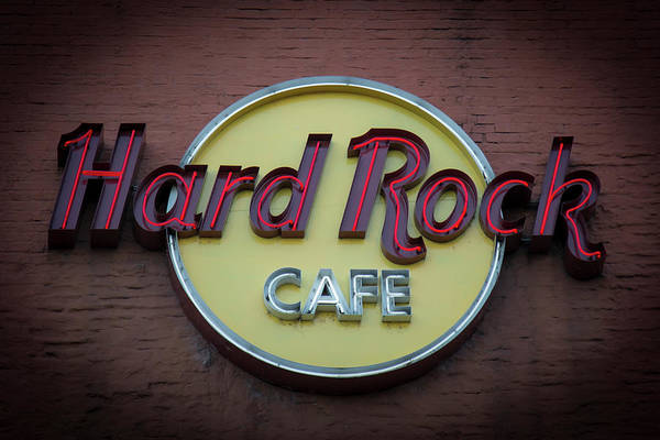 Photograph - Hard Rock Cafe Nashville Tennessee Signage Art by Reid Callaway