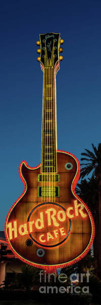 Wall Art - Photograph - Hard Rock Hotel Guitar At Sunrise Front View 3 To 1 Ratio R.i.p. by Aloha Art