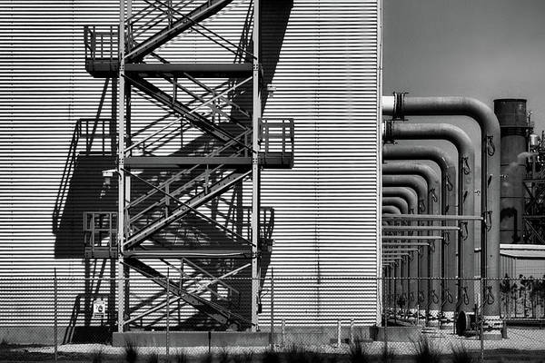 Photograph - Hard Steel, Hard Shadows by Perry Correll