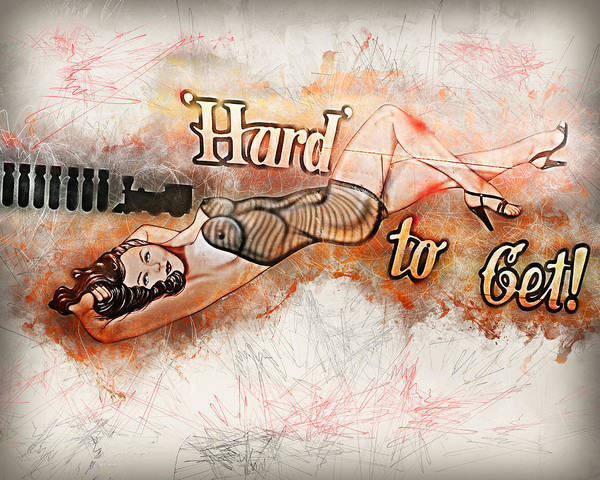 Wall Art - Painting - Hard To Get  by Louis Ferreira