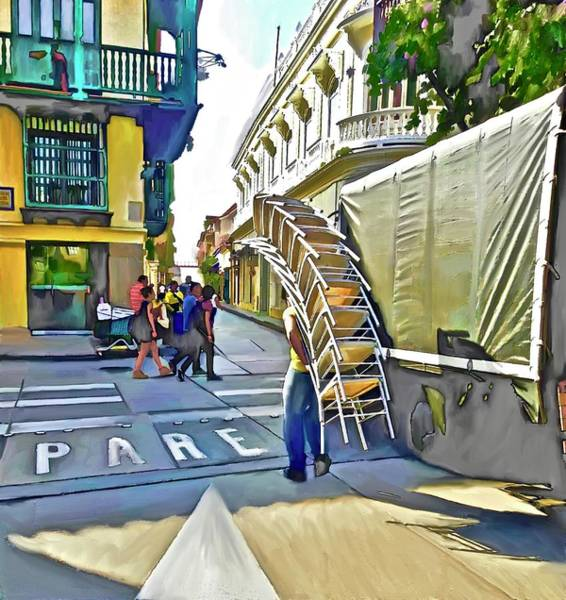 Pirates Of The Caribbean Digital Art - Hard Work In The Old City Of Cartagena by Laurie's Intuitive