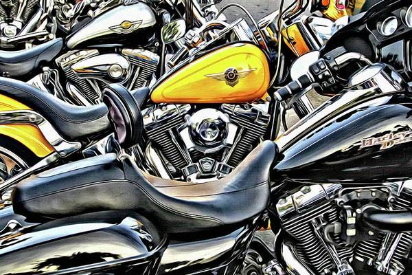 Daytona Bike Week Wall Art - Photograph - Hardly Yellow by Alice Gipson