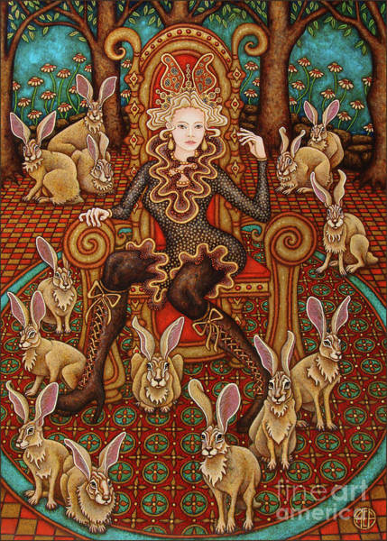 Painting - Hare Majesty Awaits by Amy E Fraser