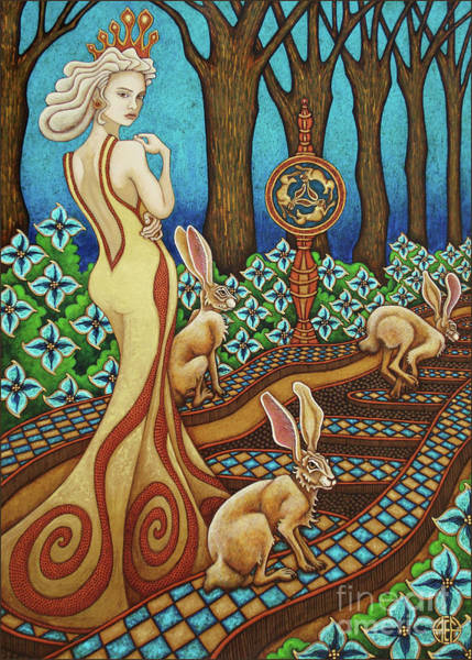 Painting - Hare Majesty Returns by Amy E Fraser
