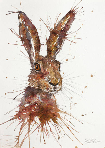 Painting - Hare Portrait by John Silver