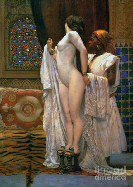 Wall Art - Painting - Harem After The Bath, Circa 1894 by Paul Louis Bouchard