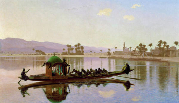 Wall Art - Painting - Harlem Pleasure Boat - Digital Remastered Edition by Jean-Leon Gerome
