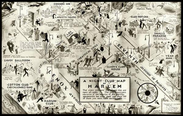 Act Photograph - Harlem Prohibition Nightclub Map 1926 by Daniel Hagerman