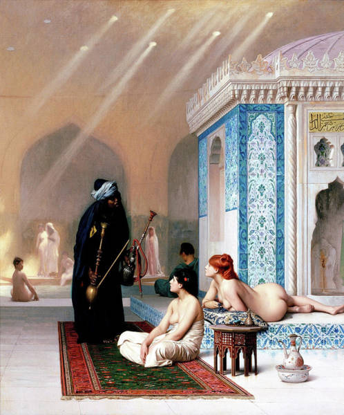 Wall Art - Painting - Harlem's Pool - Digital Remastered Edition by Jean-Leon Gerome