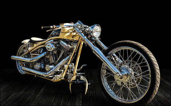 Wall Art - Photograph - Harley Chopper - Salt Flats by Andy Romanoff