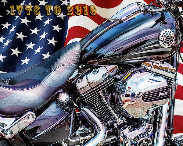 Photograph - Harley-davidson 103 - B Happy Birthday America by Gene Parks
