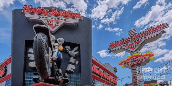 Wall Art - Photograph -   Harley Davidson Cafe Las Vegas 2 To 1 Ratiorip by Aloha Art