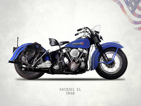 Motorcycle Photograph - Harley-davidson El 1948 by Mark Rogan