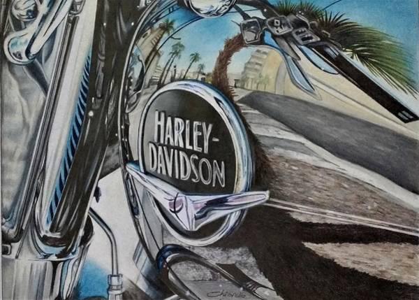 Wall Art - Drawing - Harley Davidson by Nicky Chiarello