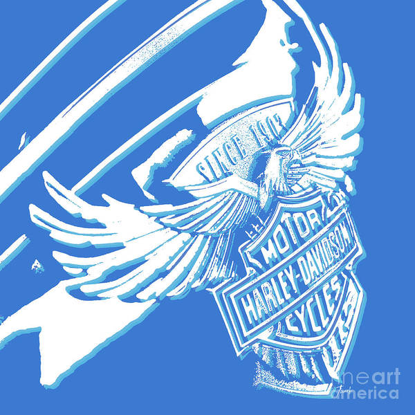 Fineartamerica Wall Art - Digital Art - Harley Davidson Tank Logo Abstract Artwork by Drawspots Illustrations