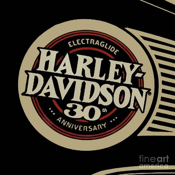 Wall Art - Digital Art - Harley Davidson Tank Vintage Logo Artwork by Drawspots Illustrations