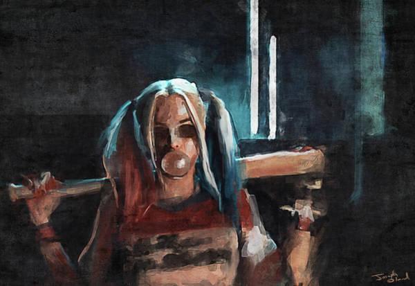 Harley Quinn Wall Art - Mixed Media - Harley Quinn by Joseph Oland