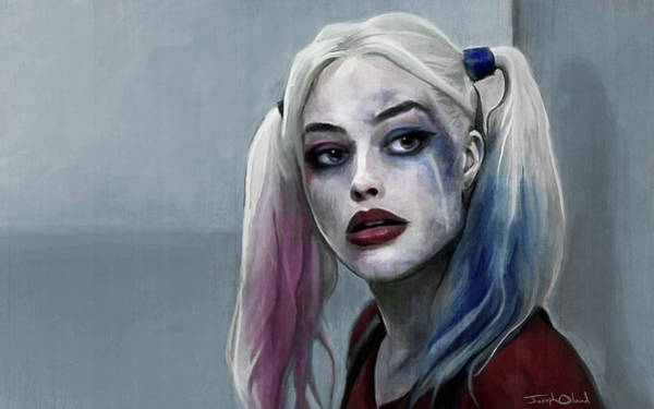Harley Quinn Wall Art - Painting - Harley Quinn - Suicide Squad by Joseph Oland