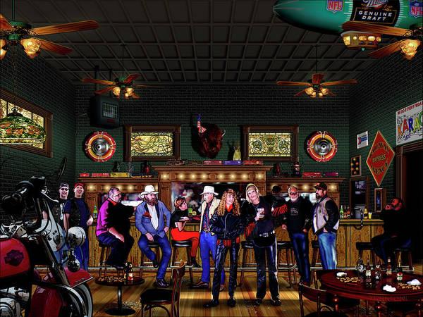 Painting - Harley Station Saloon by David Arrigoni