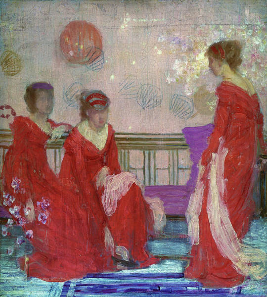 Wall Art - Painting - Harmony In Flesh Colour And Red - Digital Remastered Edition by James McNeill Whistler