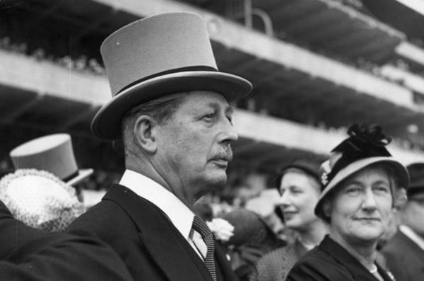 Epsom Derby Photograph - Harold Macmillan by George Stroud