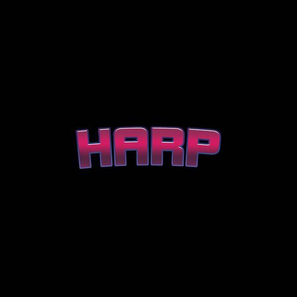 Harp Digital Art - Harp #harp by TintoDesigns