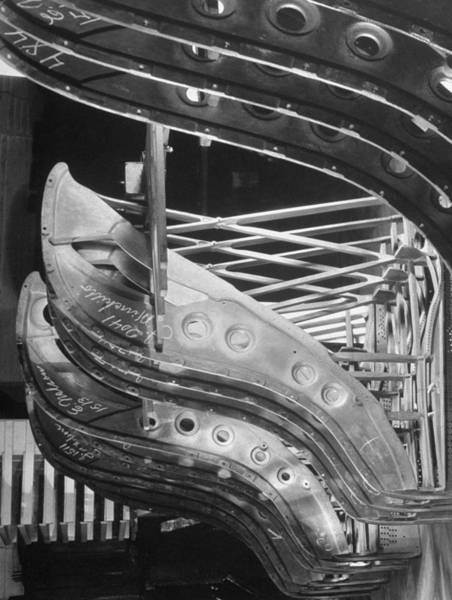 Craftsperson Photograph - Harp-shaped Steel String Frames Resting by Margaret Bourke-white