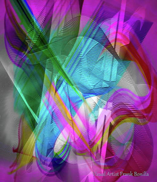Digital Art - Harp by Visual Artist Frank Bonilla