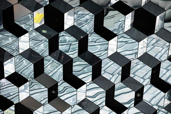 Photograph - Harpa Concert Hall Ceiling #2 by RicardMN Photography