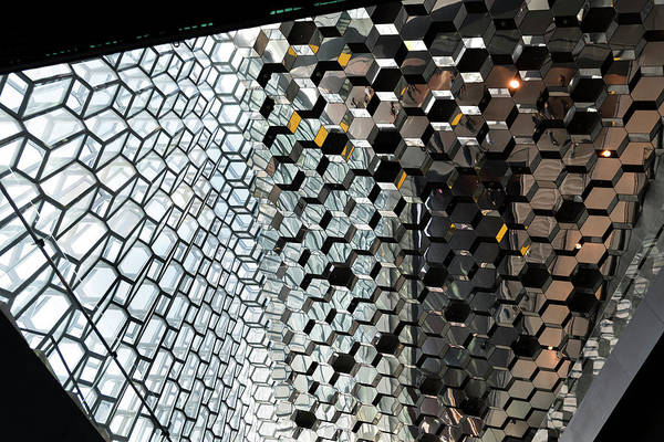 Photograph - Harpa Concert Hall Ceiling #3 by RicardMN Photography