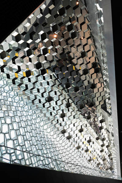 Photograph - Harpa Concert Hall Ceiling #4 by RicardMN Photography
