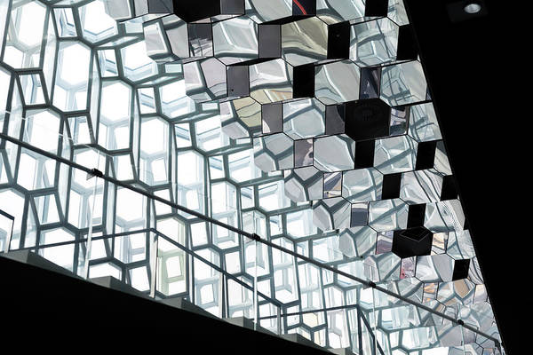 Photograph - Harpa Concert Hall Ceiling #5 by RicardMN Photography