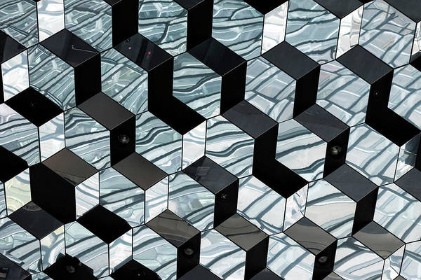 Photograph - Harpa Concert Hall Ceiling #6 by RicardMN Photography