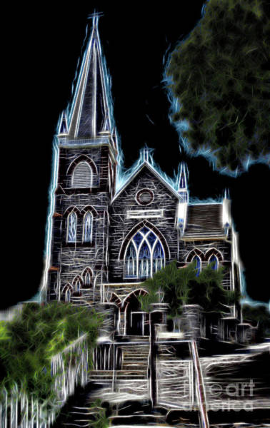 Photograph - Harpers Ferry Church Altered 1 by Patti Whitten
