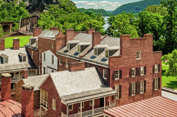 Wall Art - Photograph - Harpers Ferry Rooftop View  -  Harpersferryrooftopview196946 by Frank J Benz