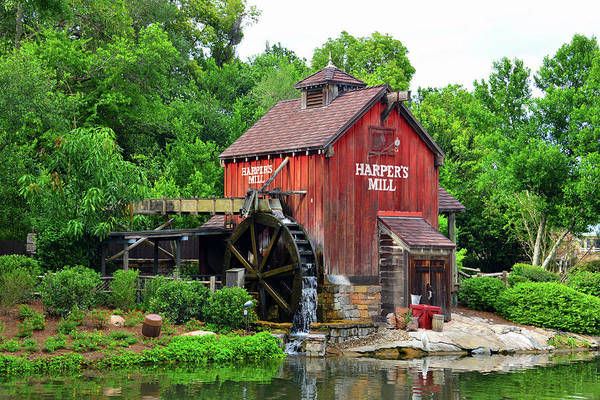 Wall Art - Photograph - Harpers Mill Tom Sawyer Island by David Lee Thompson