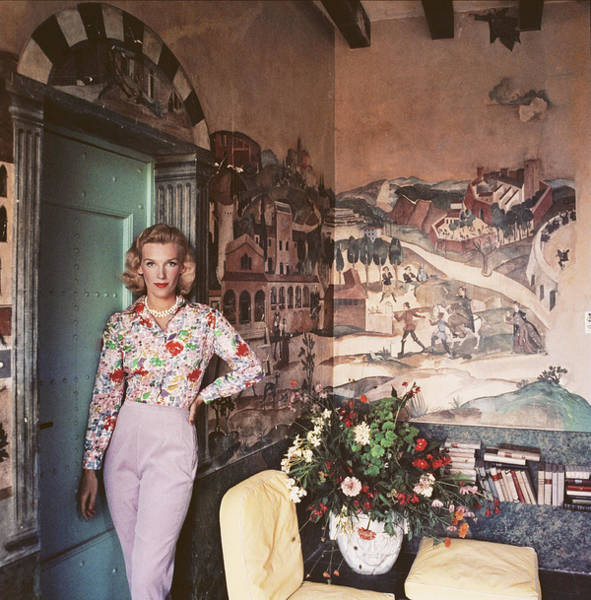 Wall Art - Photograph - Harriet At Mougins by Slim Aarons
