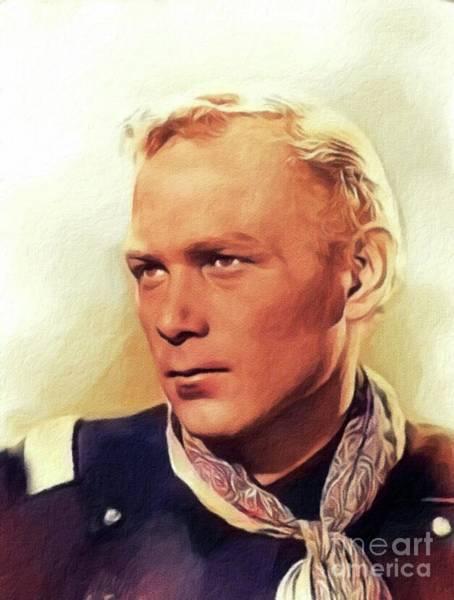 Wall Art - Painting - Harry Carey, Jr., Vintage Actor by John Springfield