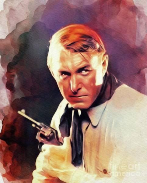 Wall Art - Painting - Harry Carey, Sr., Vintage Actor by John Springfield