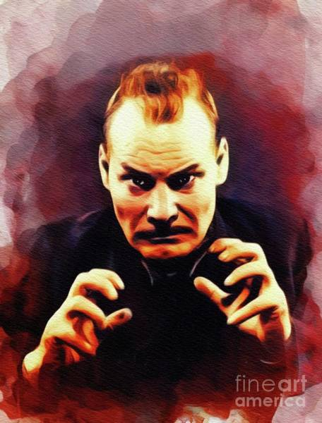 Wall Art - Painting - Harry Cording, Vintage Actor by John Springfield